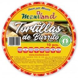 Tortillas maïs 10p - 30cm burrito