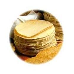 Tortillas maïs jaune congelées 15cm/60p